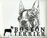 Boston Terrier Classic Embroidered Tee Shirt or Sweatshirt, Clothing for Dog and Cat Lovers at www.saltypaws.com