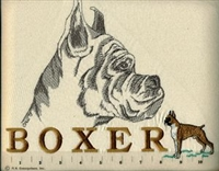 Boxer Classic Embroidered Tee Shirt or Sweatshirt, Clothing for Dog and Cat Lovers at www.saltypaws.com