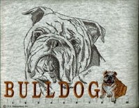 English Bulldog Classic Embroidered Tee Shirt or Sweatshirt, Clothing for Dog and Cat Lovers at www.saltypaws.com