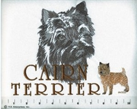 Cairn Terrier Classic Embroidered Tee Shirt or Sweatshirt, Clothing for Dog and Cat Lovers at www.saltypaws.com