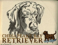 Chesapeake Bay Retriever Classic Embroidered Tee Shirt or Sweatshirt, Clothing for Dog and Cat Lovers at www.saltypaws.com