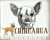 Chihuahua Classic Embroidered Tee Shirt or Sweatshirt, Clothing for Dog and Cat Lovers at www.saltypaws.com