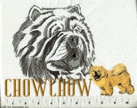 Chow Chow Classic Embroidered Tee Shirt or Sweatshirt, Clothing for Dog and Cat Lovers at www.saltypaws.com