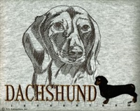 Salty Paws Dachshund Black Classic Embroidered Tee Shirt or Sweatshirt, Clothing for Dog and Cat Lovers at www.saltypaws.com