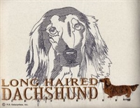 Dachshund Long Hair Classic Embroidered Tee Shirt or Sweatshirt, Clothing for Dog and Cat Lovers at www.saltypaws.com