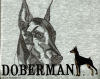 Doberman Pinscher Classic Embroidered Tee Shirt or Sweatshirt, Clothing for Dog and Cat Lovers at www.saltypaws.com