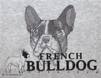 French Bulldog Classic Embroidered Tee Shirt or Sweatshirt, Clothing for Dog and Cat Lovers at www.saltypaws.com