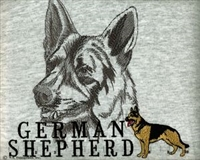 German Shepherd Classic Embroidered Tee Shirt or Sweatshirt, Clothing for Dog and Cat Lovers at www.saltypaws.com