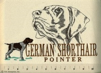 German Shorthaired Pointer Classic Embroidered Tee Shirt or Sweatshirt, Clothing for Dog and Cat Lovers at www.saltypaws.com