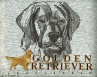 Golden Retriever Classic Embroidered Tee Shirt or Sweatshirt, Clothing for Dog and Cat Lovers at www.saltypaws.com
