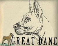 Great Dane Classic Embroidered Tee Shirt or Sweatshirt, Clothing for Dog and Cat Lovers at www.saltypaws.com