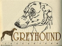 Greyhound Classic Embroidered Tee Shirt or Sweatshirt, Clothing for Dog and Cat Lovers at www.saltypaws.com