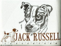 Jack Russell Terrier Classic Embroidered Tee Shirt or Sweatshirt, Clothing for Dog and Cat Lovers at www.saltypaws.com