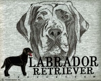 Labrador Retriever Black Classic Embroidered Tee Shirt or Sweatshirt, Clothing for Dog and Cat Lovers at www.saltypaws.com