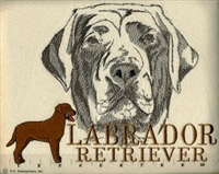 Labrador Retriever Chocolate Classic Embroidered Tee Shirt or Sweatshirt, Clothing for Dog and Cat Lovers at www.saltypaws.com