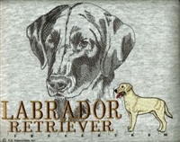 Labrador Retriever Yellow Classic Embroidered Tee Shirt or Sweatshirt, Clothing for Dog and Cat Lovers at www.saltypaws.com