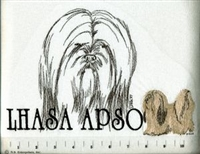 Lhasa Apso Classic Embroidered Tee Shirt or Sweatshirt, Clothing for Dog and Cat Lovers at www.saltypaws.com