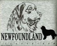 Newfoundland Classic Embroidered Tee Shirt or Sweatshirt, Clothing for Dog and Cat Lovers at www.saltypaws.com