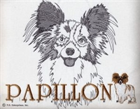 Papillon Classic Embroidered Tee Shirt or Sweatshirt, Clothing for Dog and Cat Lovers at www.saltypaws.com