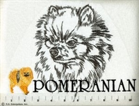 Pomeranian Classic Embroidered Tee Shirt or Sweatshirt, Clothing for Dog and Cat Lovers at www.saltypaws.com