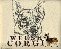Corgi Classic Embroidered Tee Shirt or Sweatshirt, Clothing for Dog and Cat Lovers at www.saltypaws.com