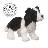 "Border Collie Plush Stuffed Animal ""Meadow"" SaltyPaws.com"