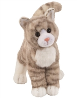 "Tabby Cat Plush Stuffed Animal ""Zipper"" SaltyPaws.com"