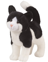"Black And White Cat Plush Stuffed Animal ""Scooter"" SaltyPaws.com"
