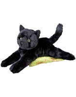 "Black Cat Plush Stuffed Animal ""Tug"" SaltyPaws.com"