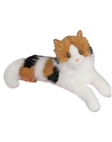 "Calico Cat Plush Stuffed Animal ""Puzzle"" SaltyPaws.com"