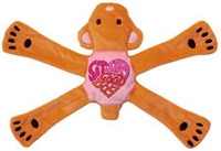 Dog Toy Plush Penta Pull Pink Bear at SaltyPaws.com
