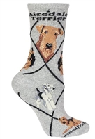 Airedale Terrier Novelty Socks SaltyPaws.com