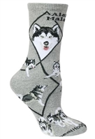 Alaskan Malamute Novelty Socks SaltyPaws.com
