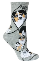 Australian Shepherd Novelty Socks SaltyPaws.com
