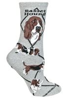 Basset Hound Novelty Socks SaltyPaws.com