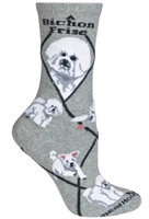 Bichon Frise Novelty Socks SaltyPaws.com
