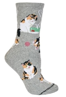 Calico Cat Novelty Socks SaltyPaws.com