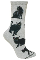 Black cat Novelty Socks SaltyPaws.com