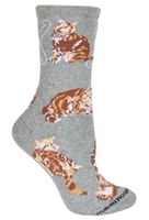Orange Tabby Cat  Novelty Socks SaltyPaws.com