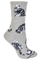 Silver Tabby Cat  Novelty Socks SaltyPaws.com