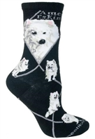 American Eskimo Novelty Socks SaltyPaws.com