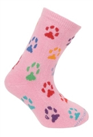 Childrens' Pink Paws Novelty Socks SaltyPaws.com