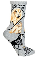 Afghan Hound Novelty Socks SaltyPaws.com