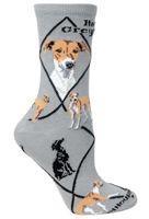 Italian Greyhound Novelty Socks SaltyPaws.com
