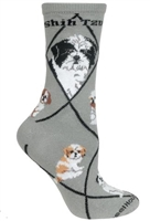 Shih Tzu Puppy Cut Novelty Socks SaltyPaws.com