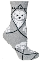 Maltese Puppy Cut Novelty Socks SaltyPaws.com