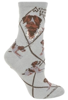 German Wirehaired Pointer Novelty Socks SaltyPaws.com