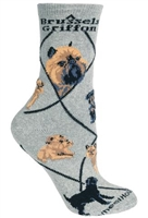 Brussels Griffon Novelty Socks SaltyPaws.com