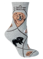 Chow Chow Novelty Socks SaltyPaws.com
