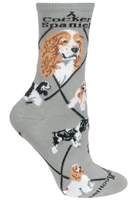 Cocker Spaniel Parti Novelty Socks SaltyPaws.com